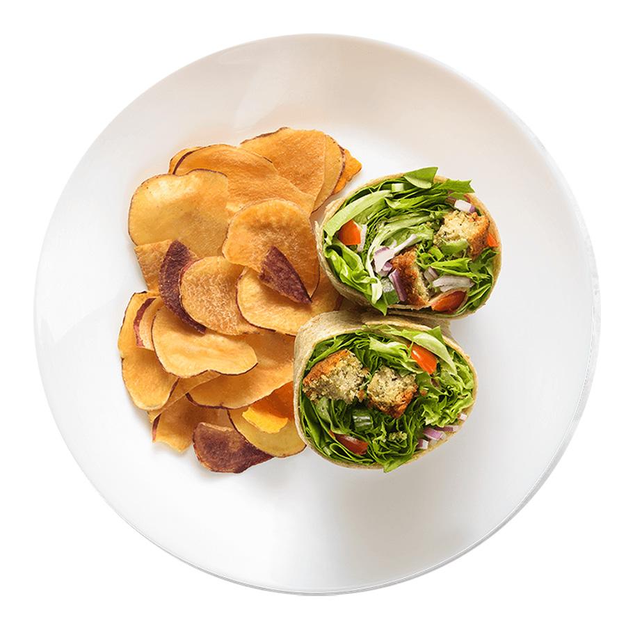 Wrap_Árabe-com-faláfel fresco wraps saudáveis franquia alimentação saudável Boali