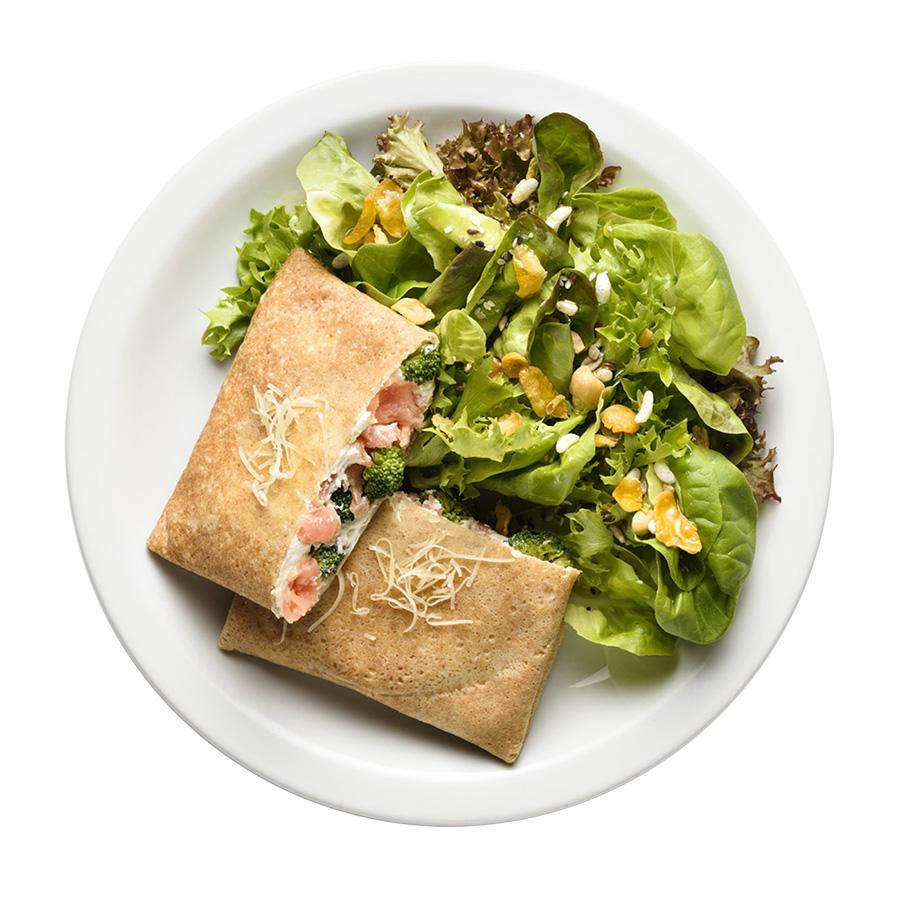 crepe salmão com brócolis franquia saudável boali