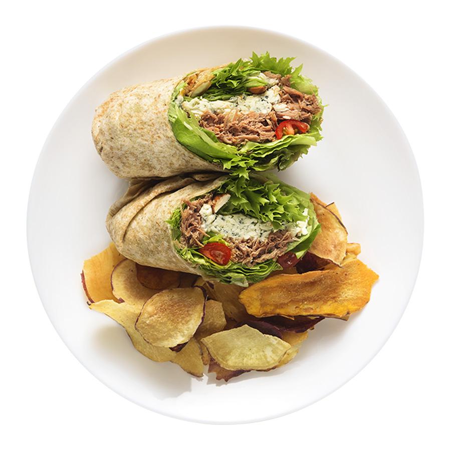 wrap carne com gorgonzola fresco wraps saudáveis franquia alimentação saudável Boali
